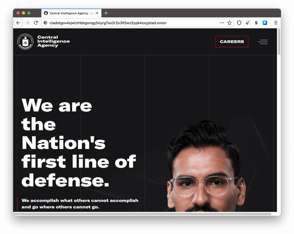 CIA's onion site on the dark web
