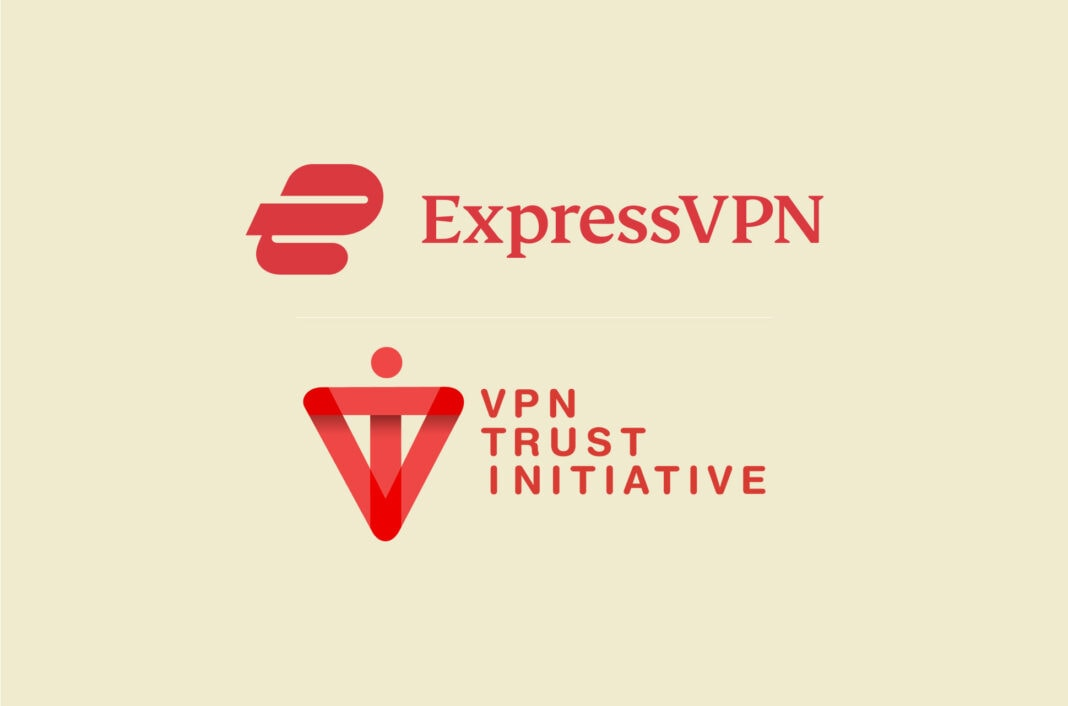 ExpressVPN and VPN Trust Initiative logos.