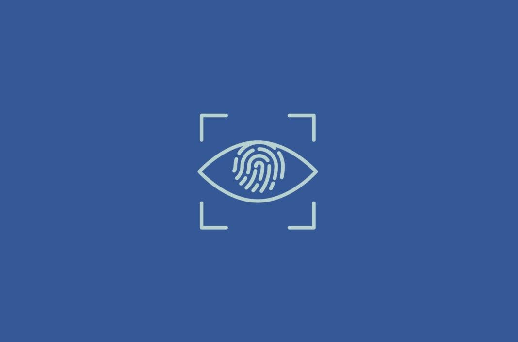 An eye with a fingerprint.