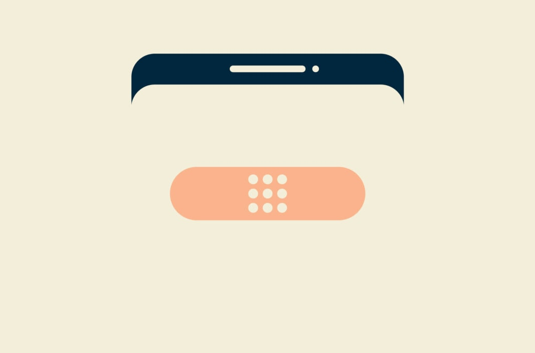 Bandaid on a smartphone
