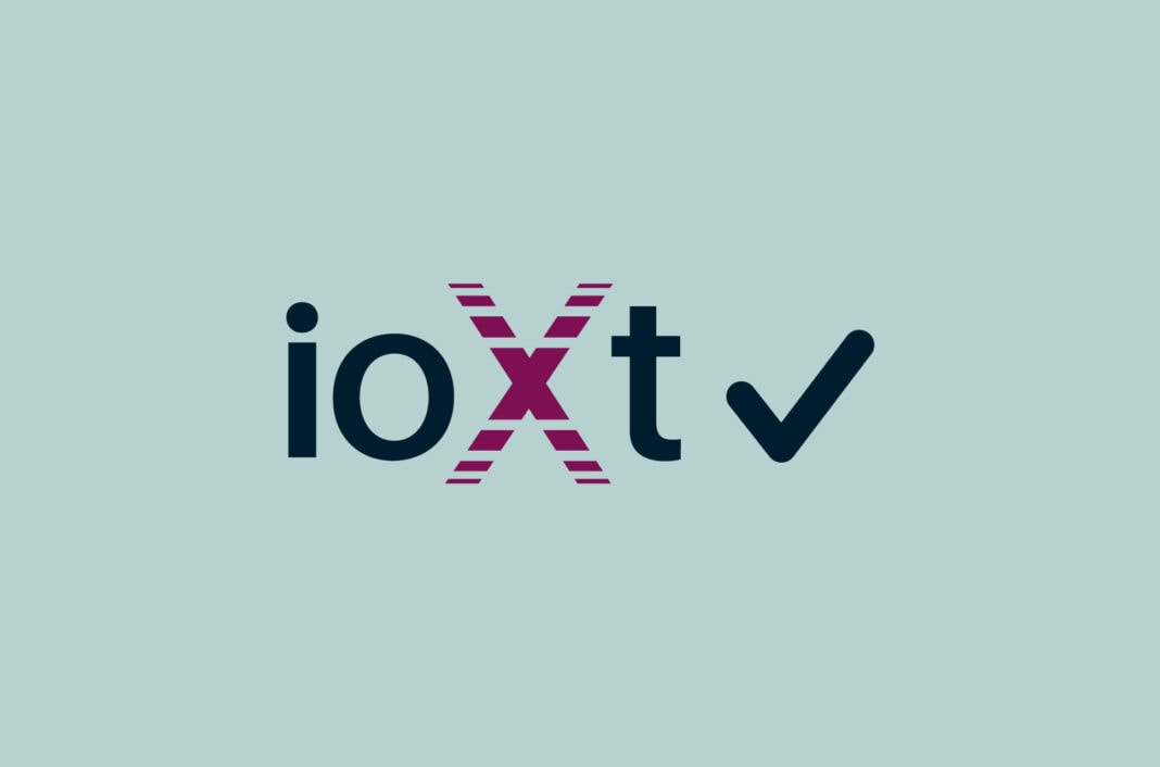 ioXt Alliance logo with check mark.