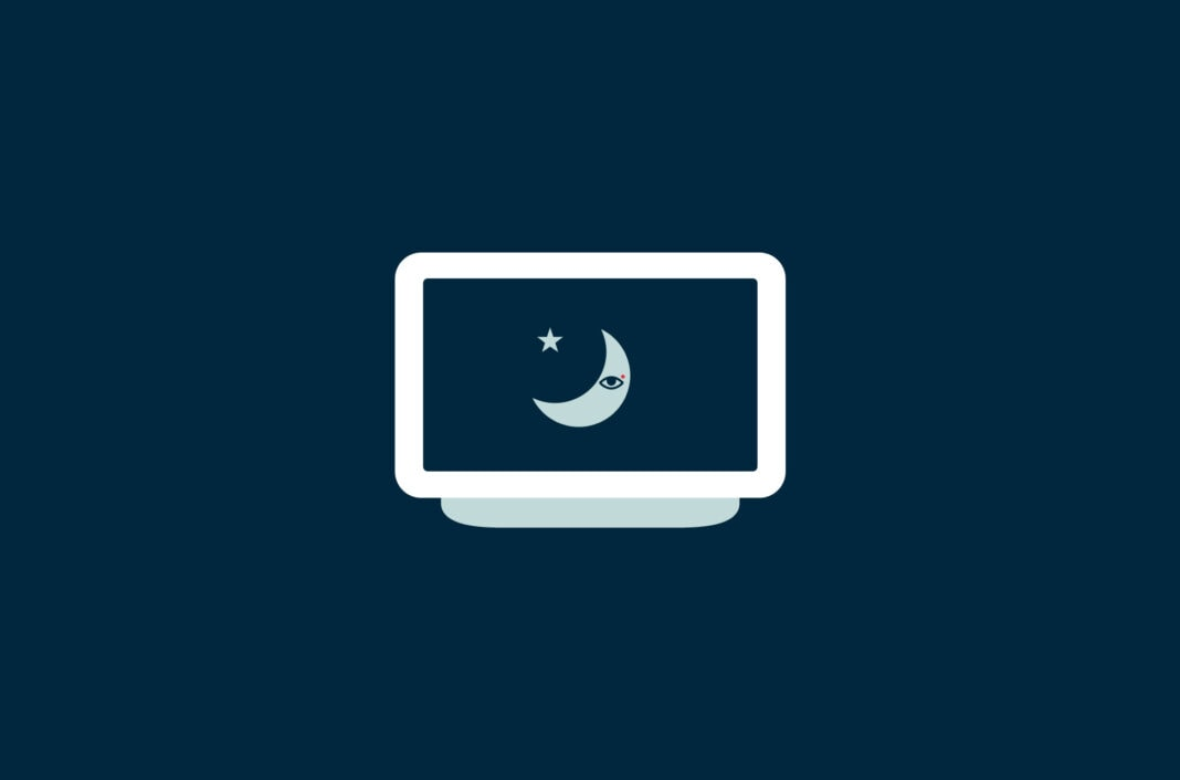 A moon on a monitor.