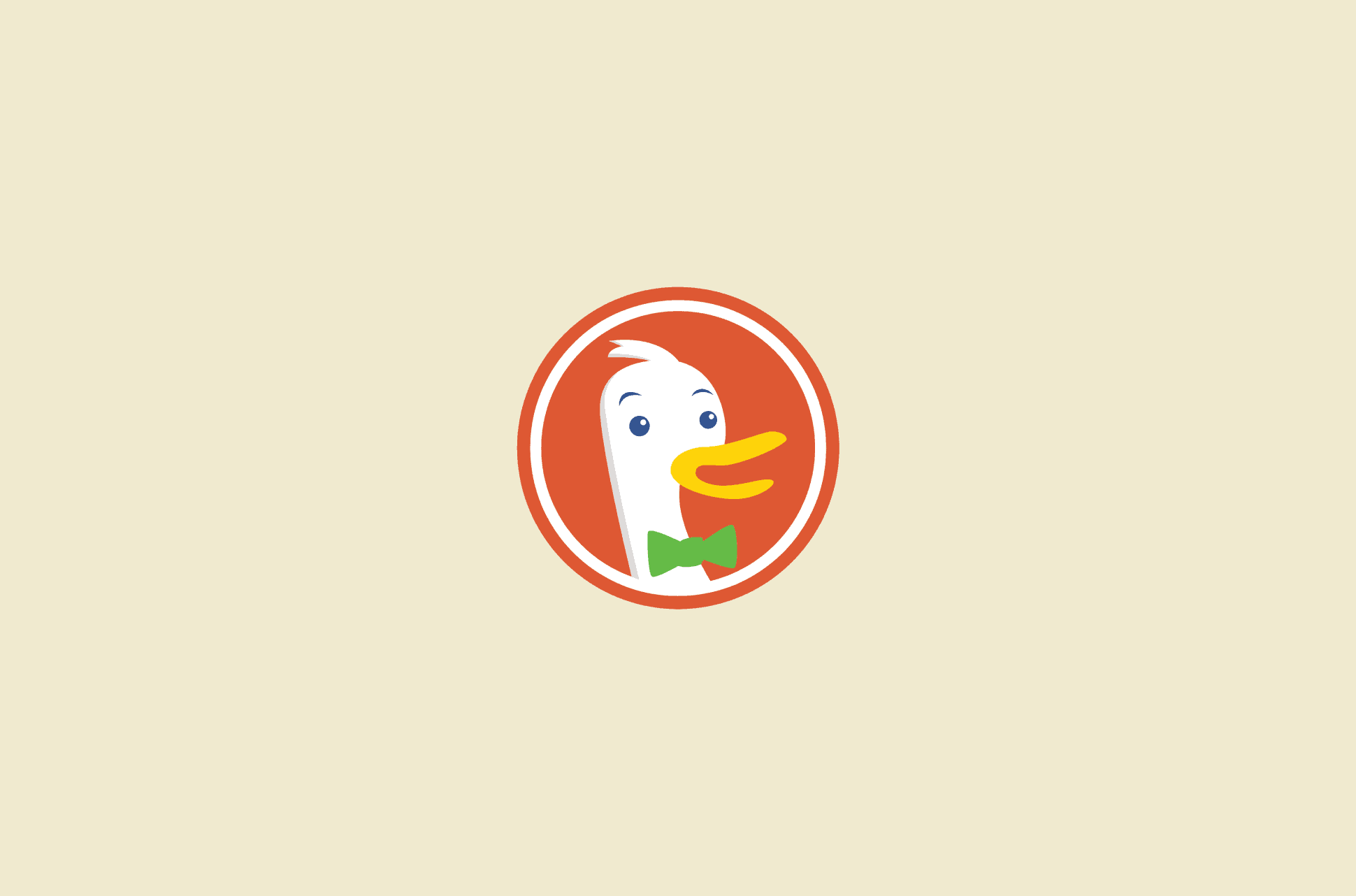 DuckDuckGo logo.