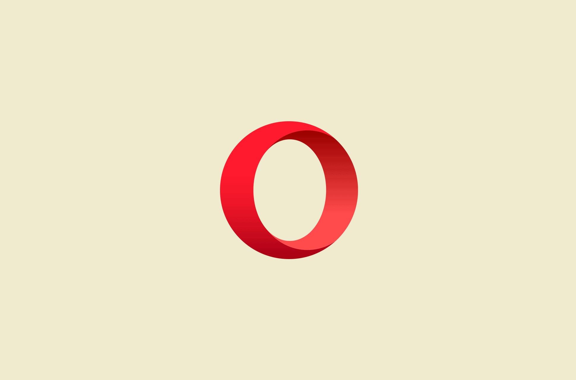 Opera browser logo.
