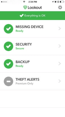 lookout security app for iphone