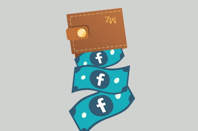 An illustration of money pouring from a wallet bearing the initials MZ.