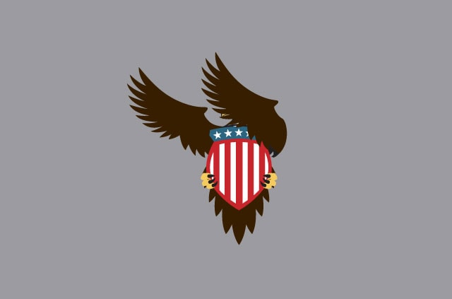 An illustration of an eagle covering its eyes.