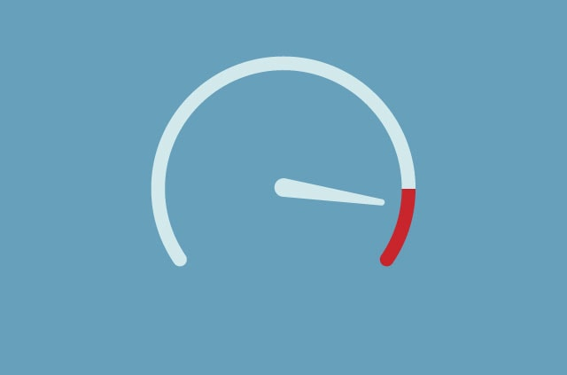 An illustration of a speedometer.