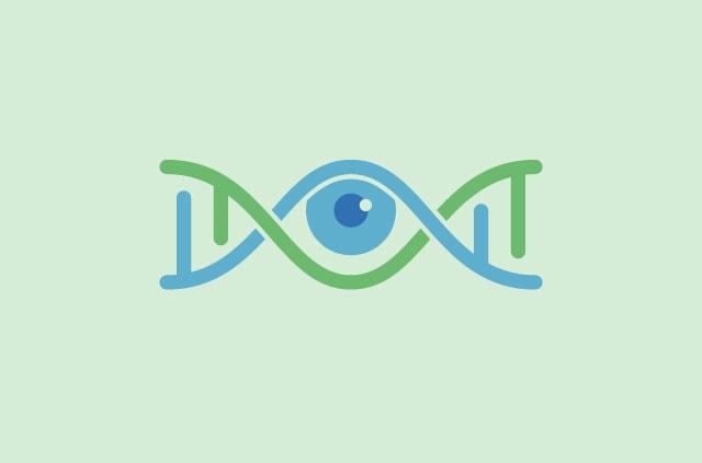 Eye within DNA helix.
