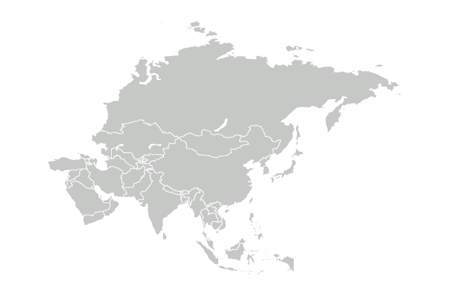 A map of Asia.