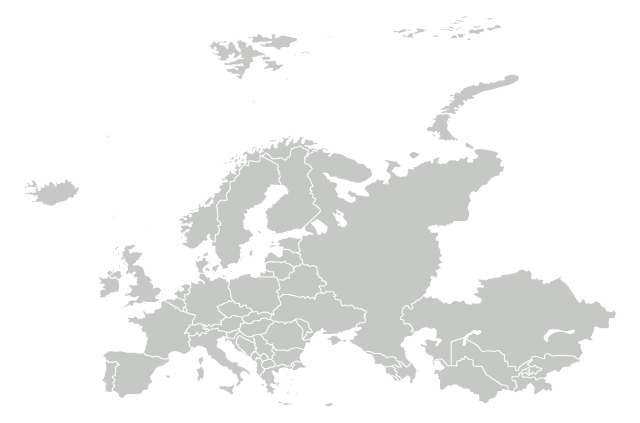 A map of Europe.