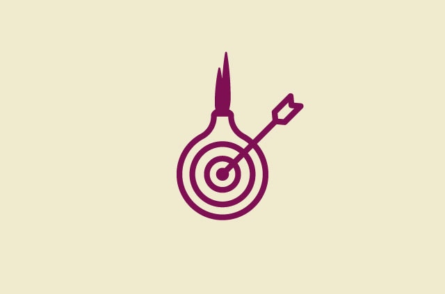 Tor Onion with arrow through the middle