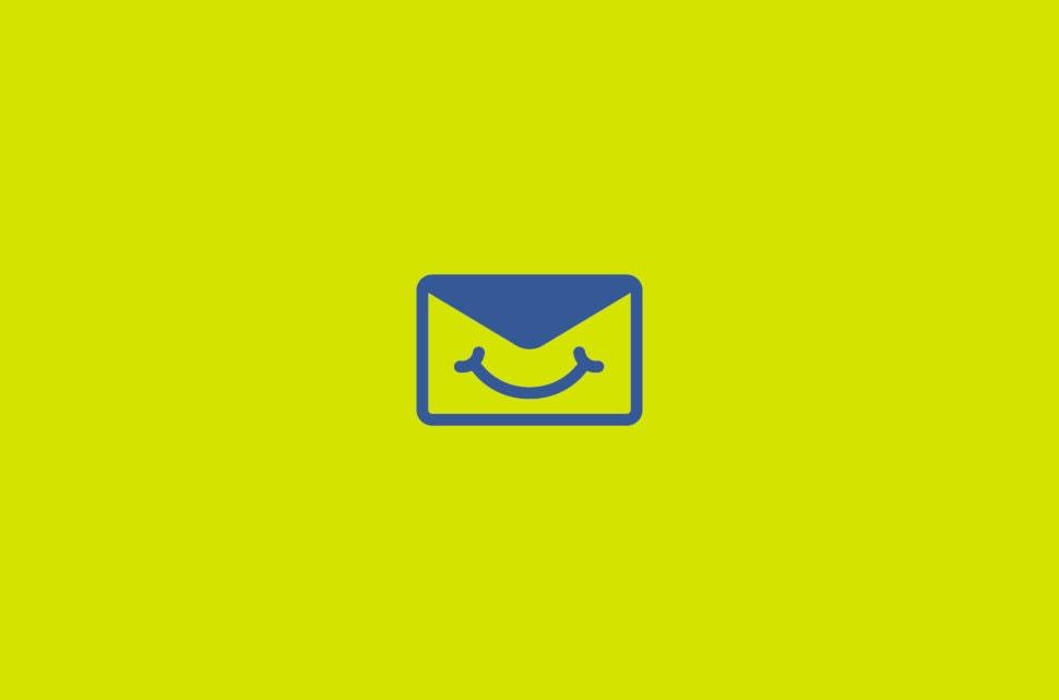 Envelope wearing a face mask.