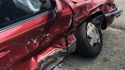 In an Accident