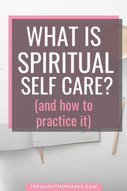 spiritual self care ideas