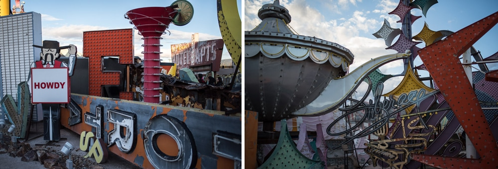 Signs at the Neon Museum Graveyard Off the strip in Las Vegas
