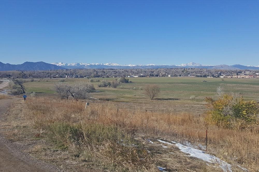 Open field along the Rock Creek Trail