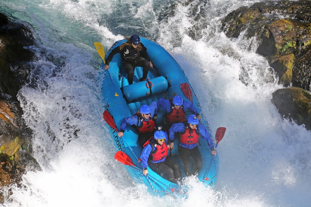 Whitewater rafting over Husum Falls with Zoller's Outdoor Odysseys rafting