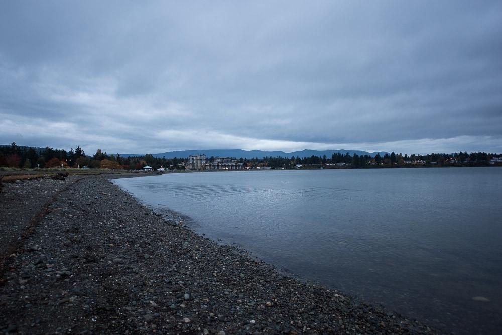 The shoreline in Parksville