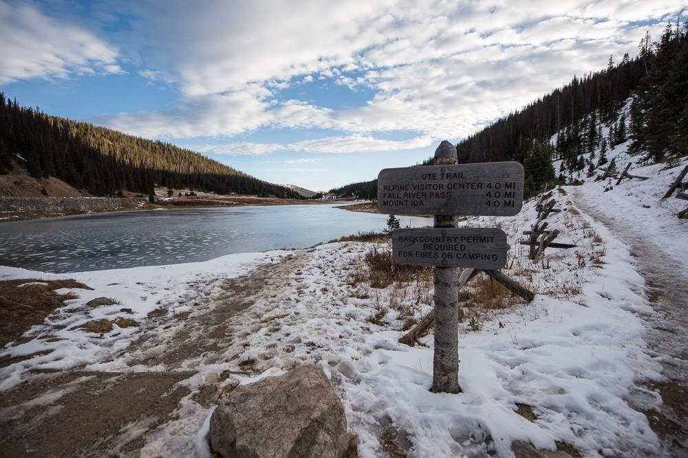One of the many hiking trails available in Rocky Mountain National Park