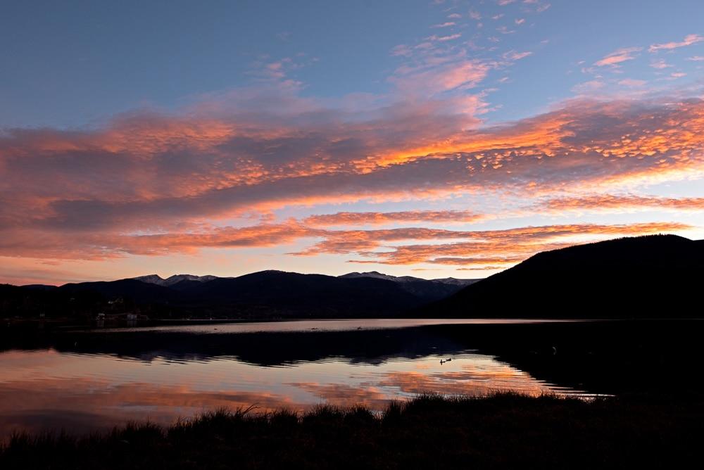 Shadow Mountain Lake at Sunset
