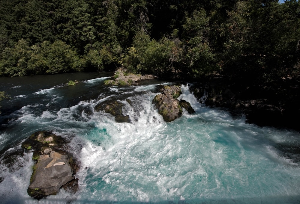 husum falls on the While Salmon River
