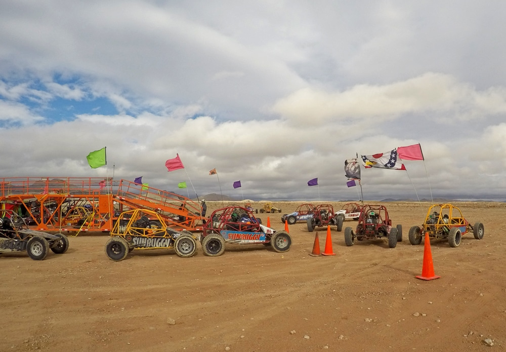 Dune Buggies in the desert outside of Las Vegas