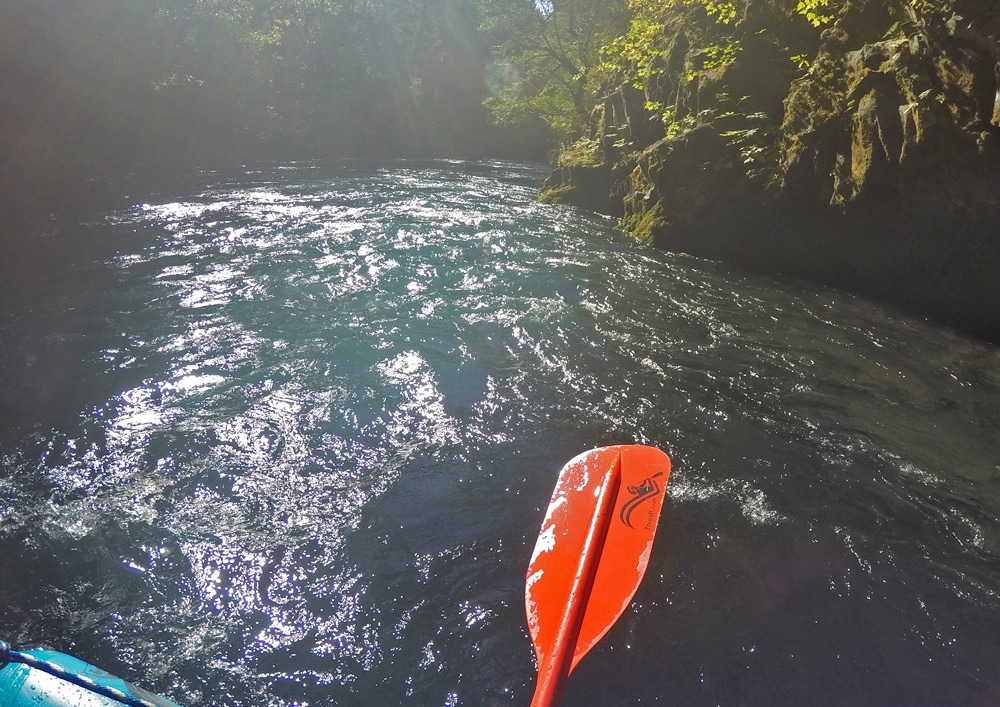 A calm section of the White Salmon River