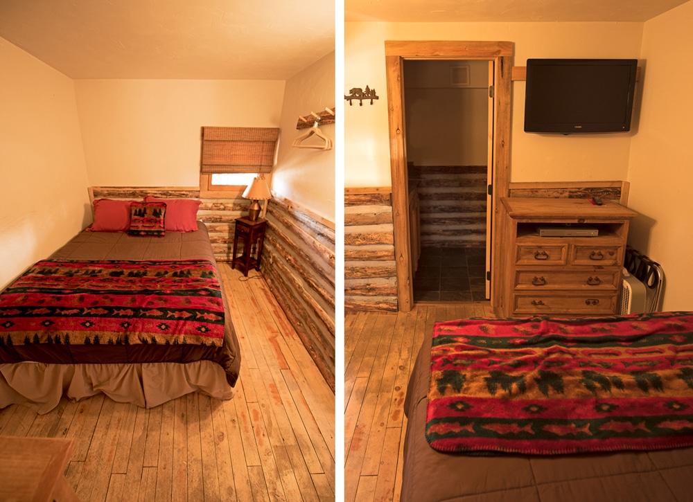 Bedroom in our Grand Lake Cabin Rental