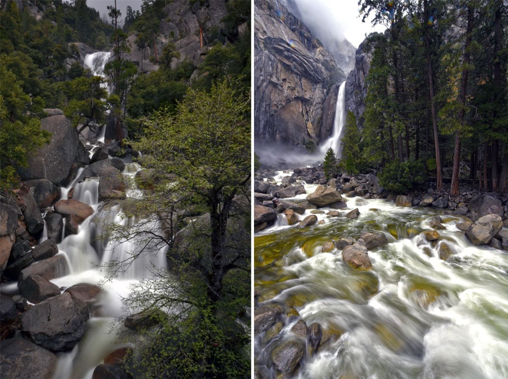 Yosemite in April did not disappoint. While Yosemite in May is even better, the flow at Yosemite Falls was great!