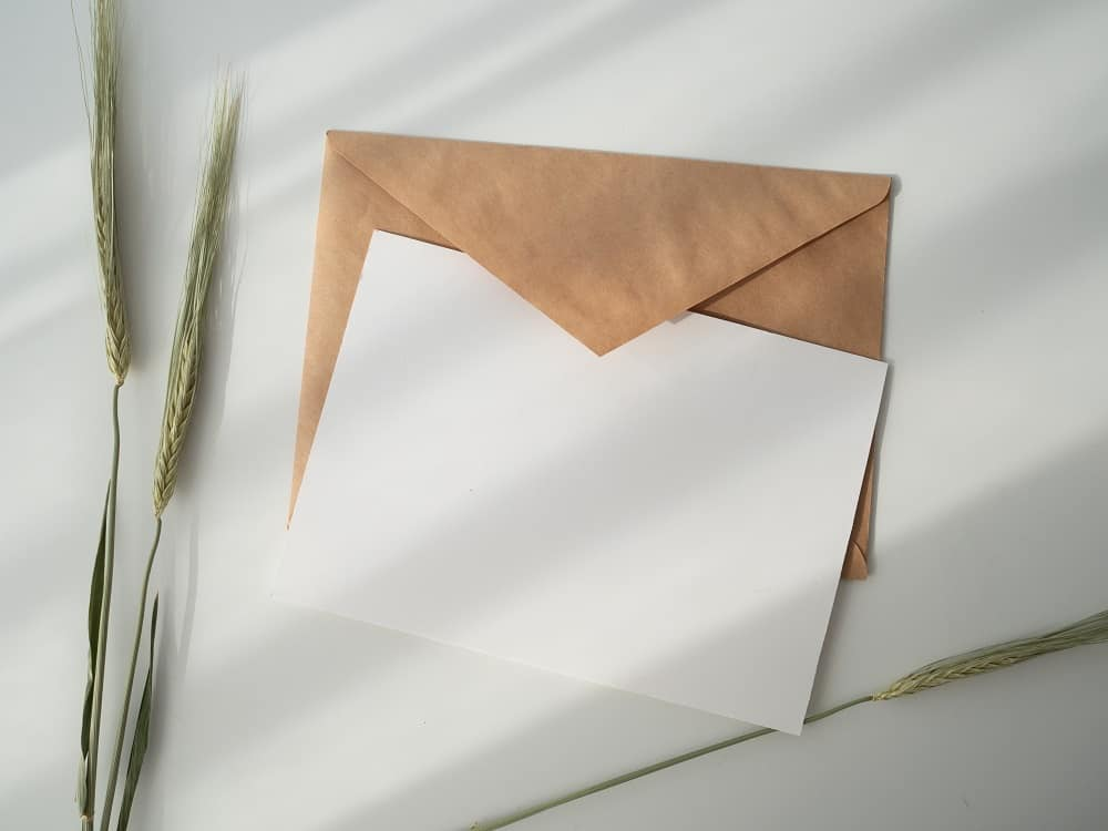 blank page in envelope