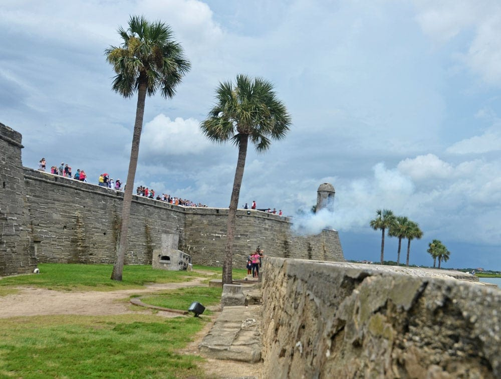 Castillo De San Marcos weapons demonstration, which is only done on weekends in St. Augustine