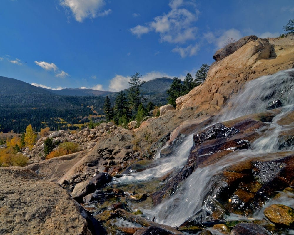 alluvial fan - easy hikes in rocky mountain national park