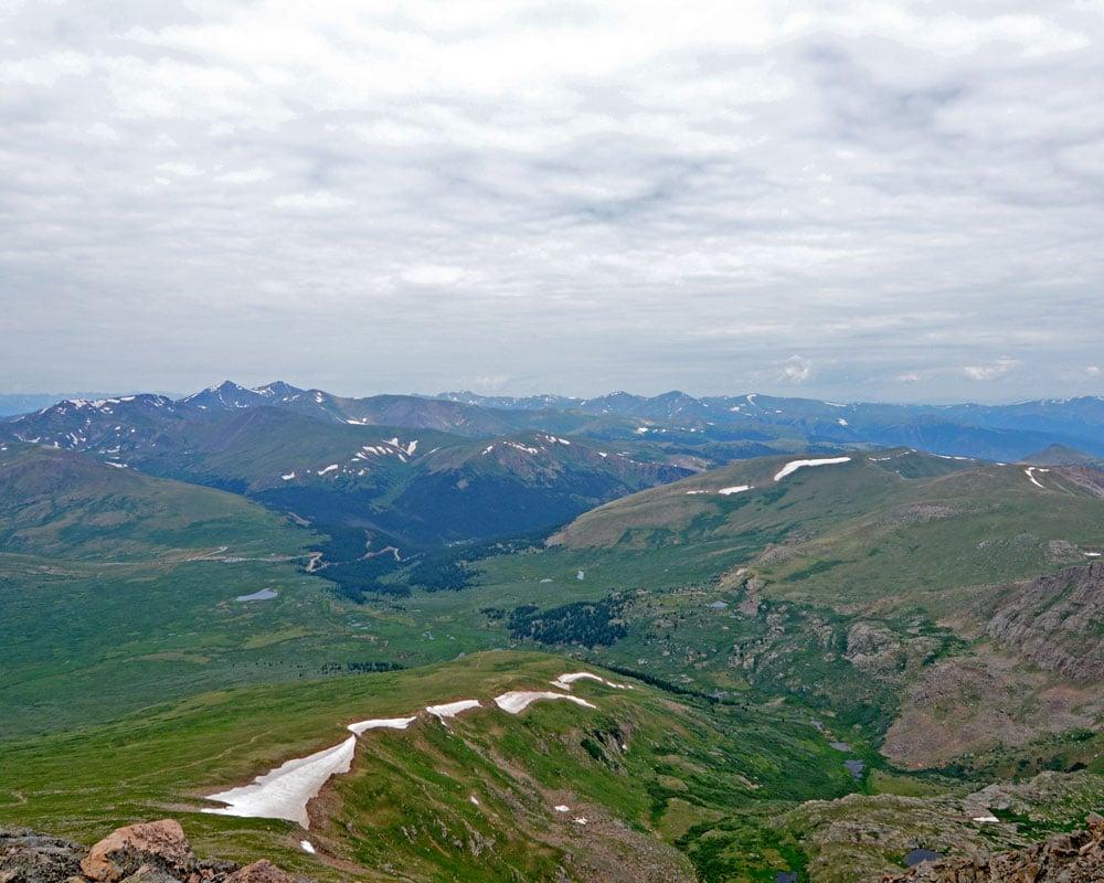 View from the top of Mt. Bierstadt