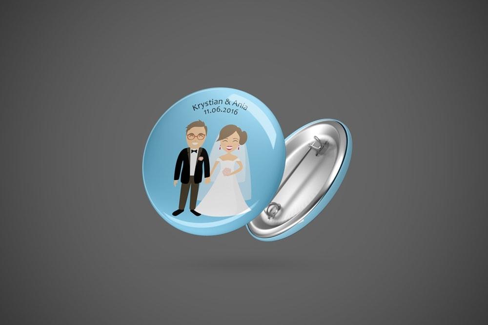 Przypinka ślubna