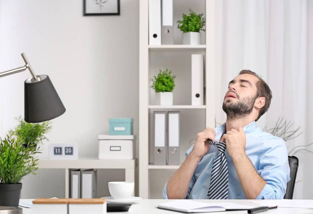 Office without air-con in heatwave