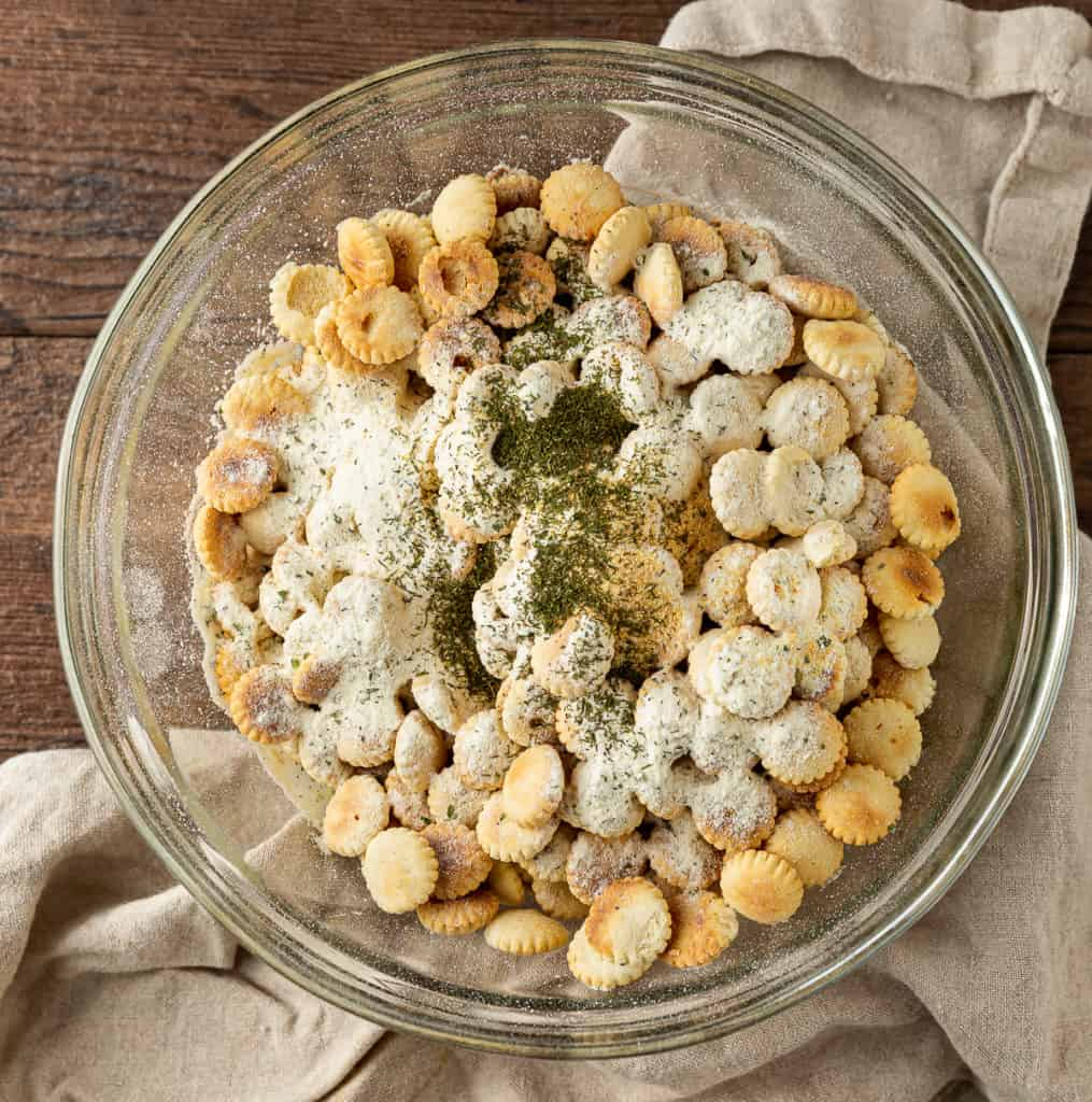oyster crackers with powdered ranch