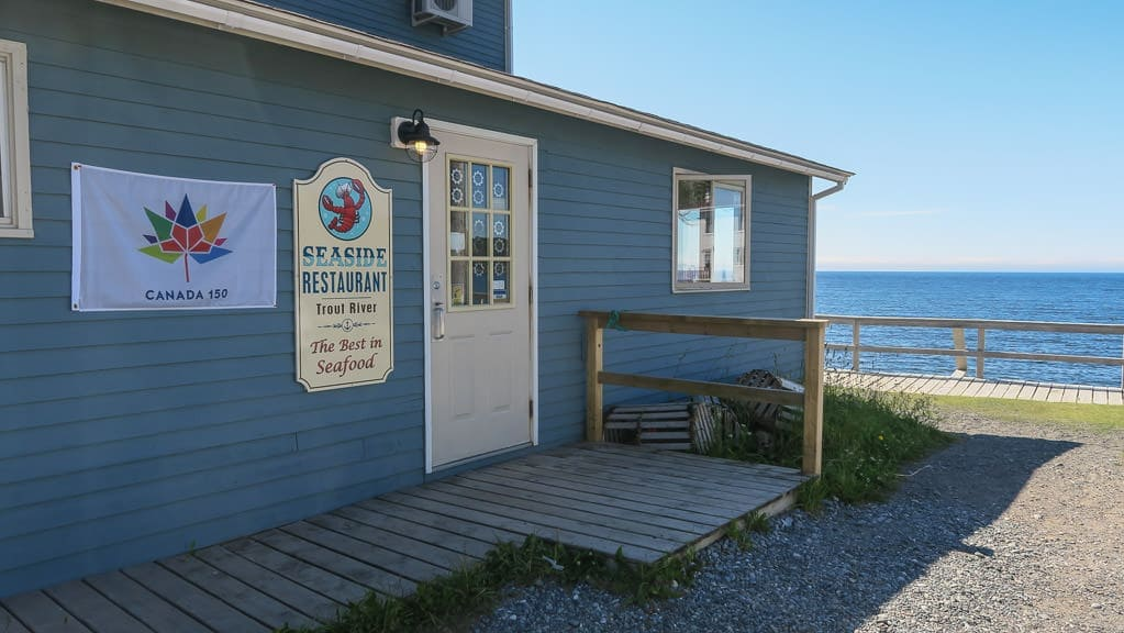Outside of the Seaside Restaurant in Trout River
