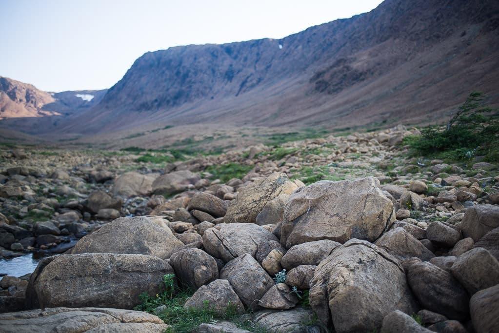 Rocks and boulders showing a barren landscape at Tablelands.
