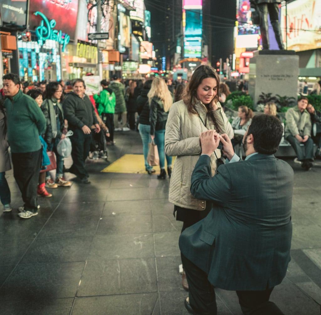 Photo 3 Times Square Marriage proposal New York City | VladLeto