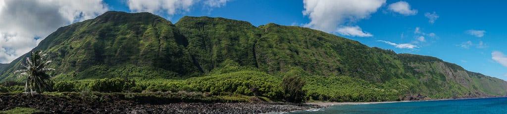 landscape of cliffs after Hiking to Kalaupapa Molokai