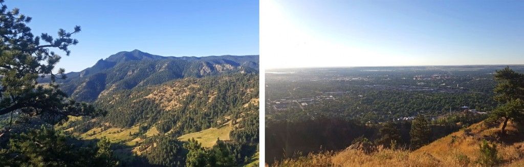Views from the hike up Mount Sanitas in Boulder Colorado