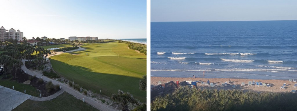 View from the hotel at Hammock Beach Resort: Golf Course and Ocean views!