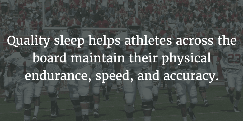Quality sleep helps athletes across the board maintain their physical endurance, speed, and accuracy