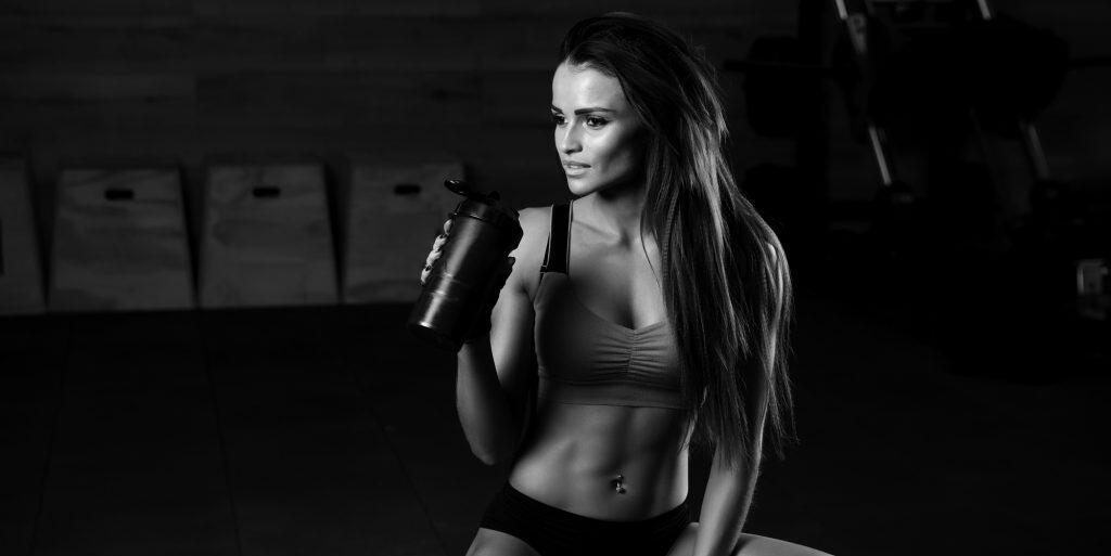 Woman pre workout