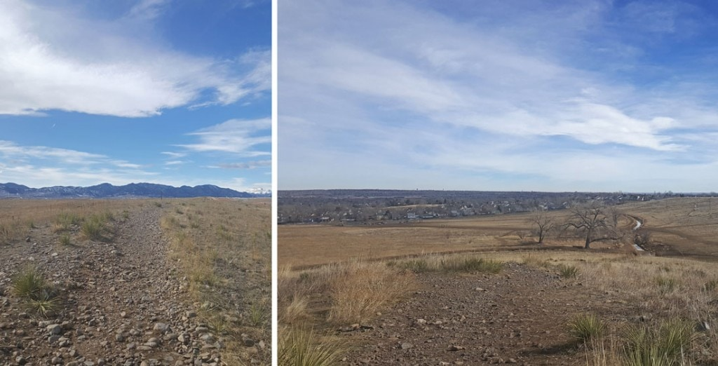 Westminster Hills Dog Park also offers amazing views of the Rocky Mountain range, and the surrounding cities.