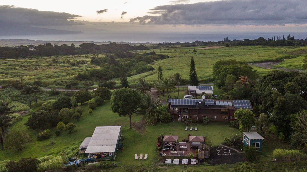Aerial views of the property at Peace of Maui Bed and Breakfast