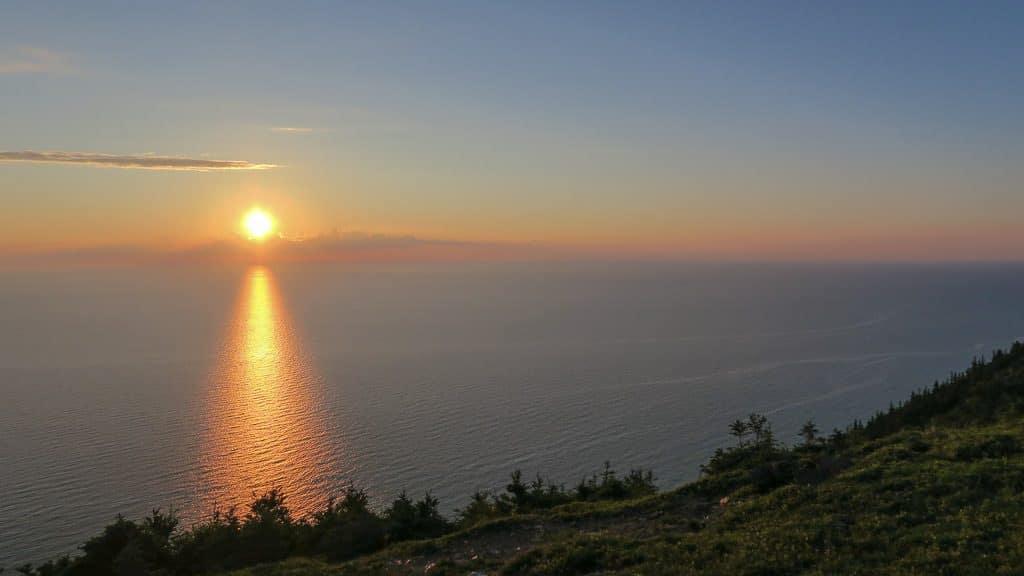 Sunset at Skyline Trail over the Atlantic Ocean