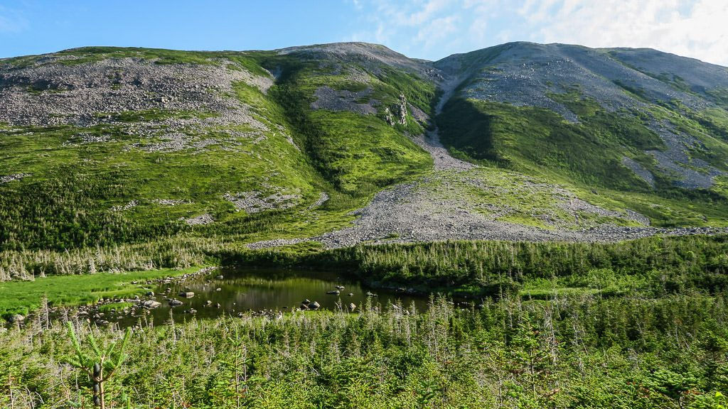 Looking towards the rock gully from the turn-around point at Gros Morne National Park