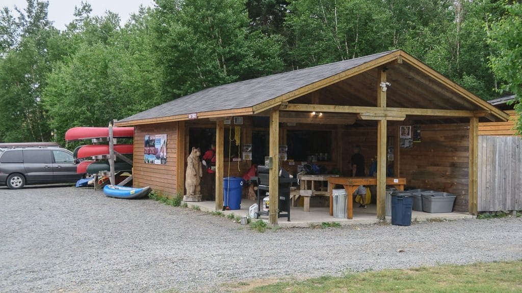 Back at the ONadventure Wilderness Tours shop near the Riverfront Chalets